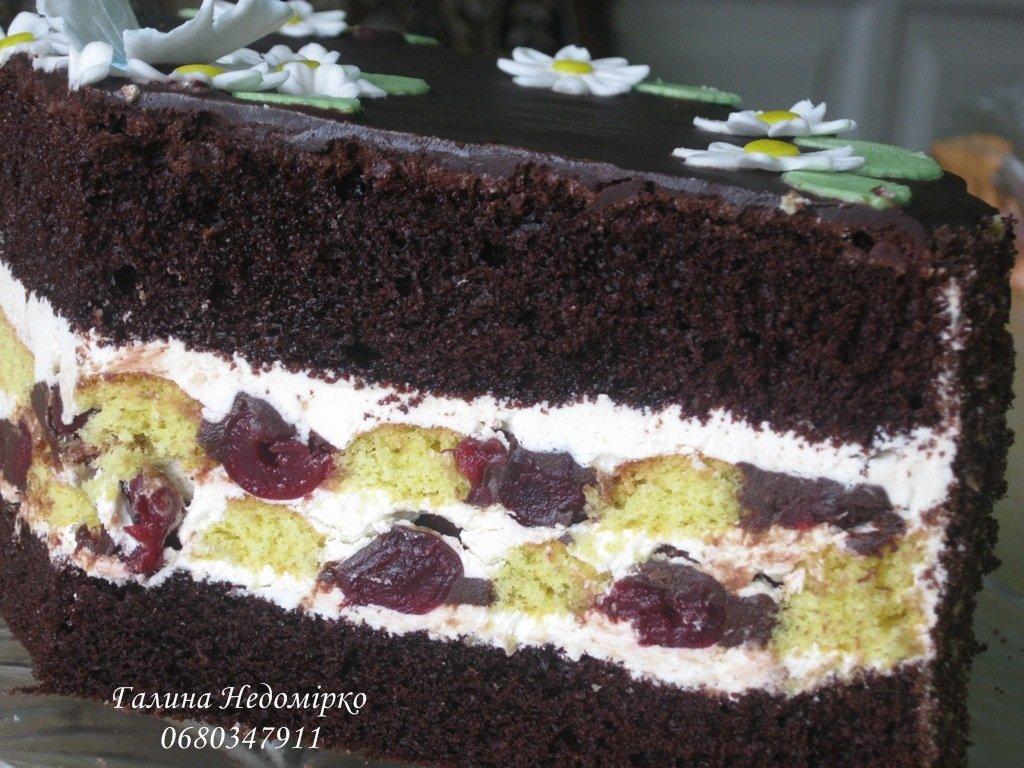 рецепти тортів з вишнями з мастики в розрізі фото