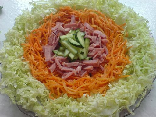 Салат радуга рецепт с с морковью по-корейски