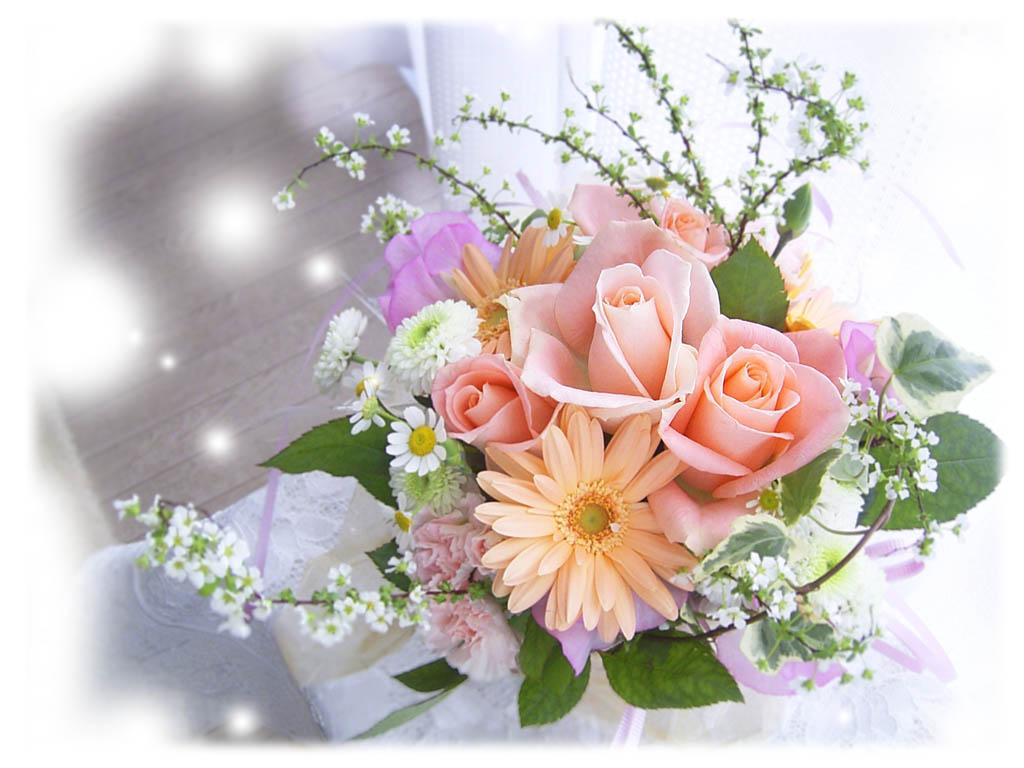 Пожелание хорошего дня из цветов