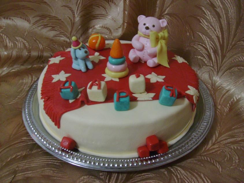 Украшение тортов из мастики фото детские