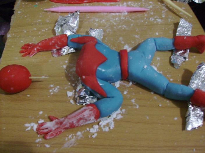 Торт человек паук фото пошагово