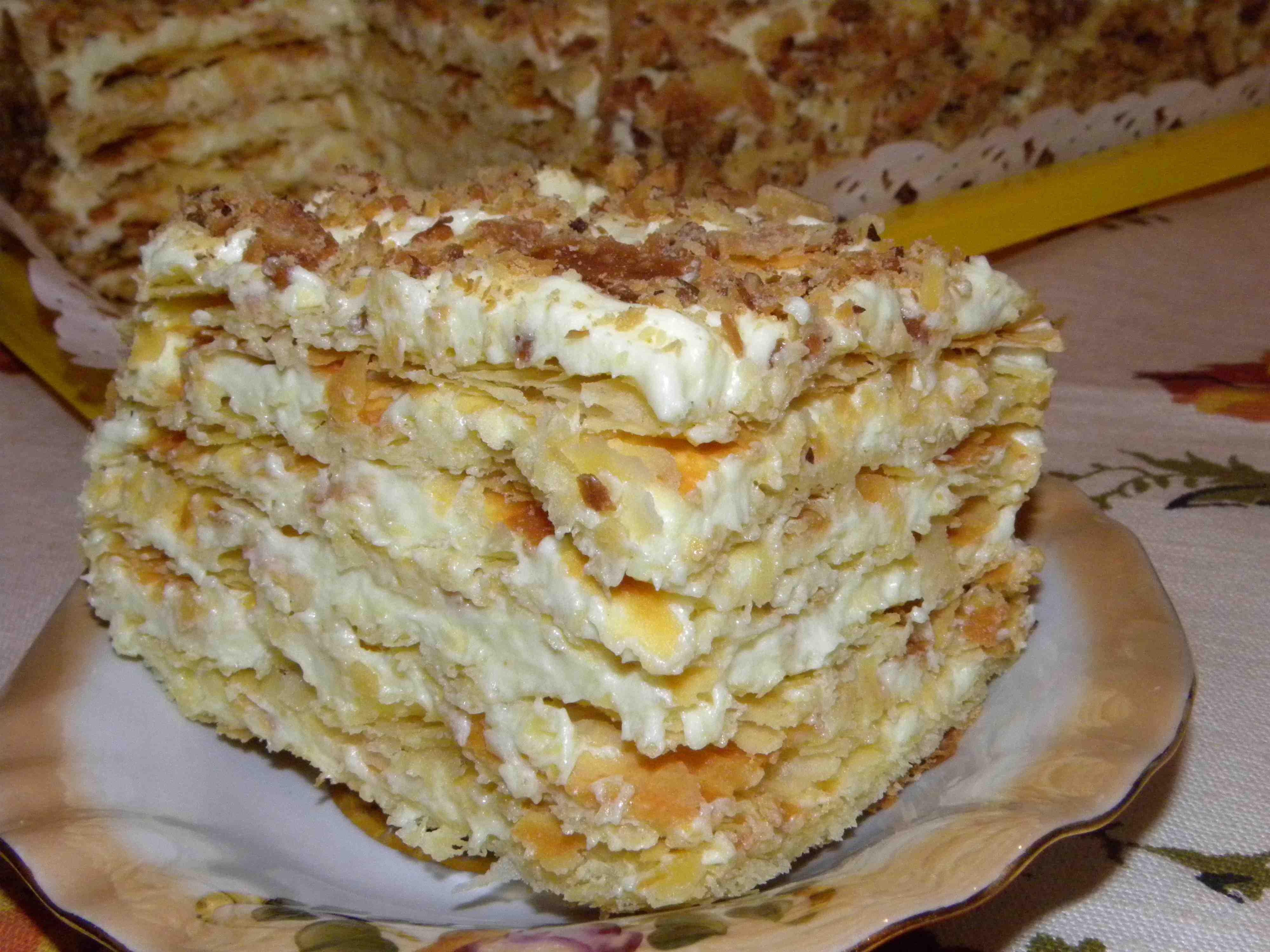 Торт наполеон с водкой пошаговый рецепт с фото
