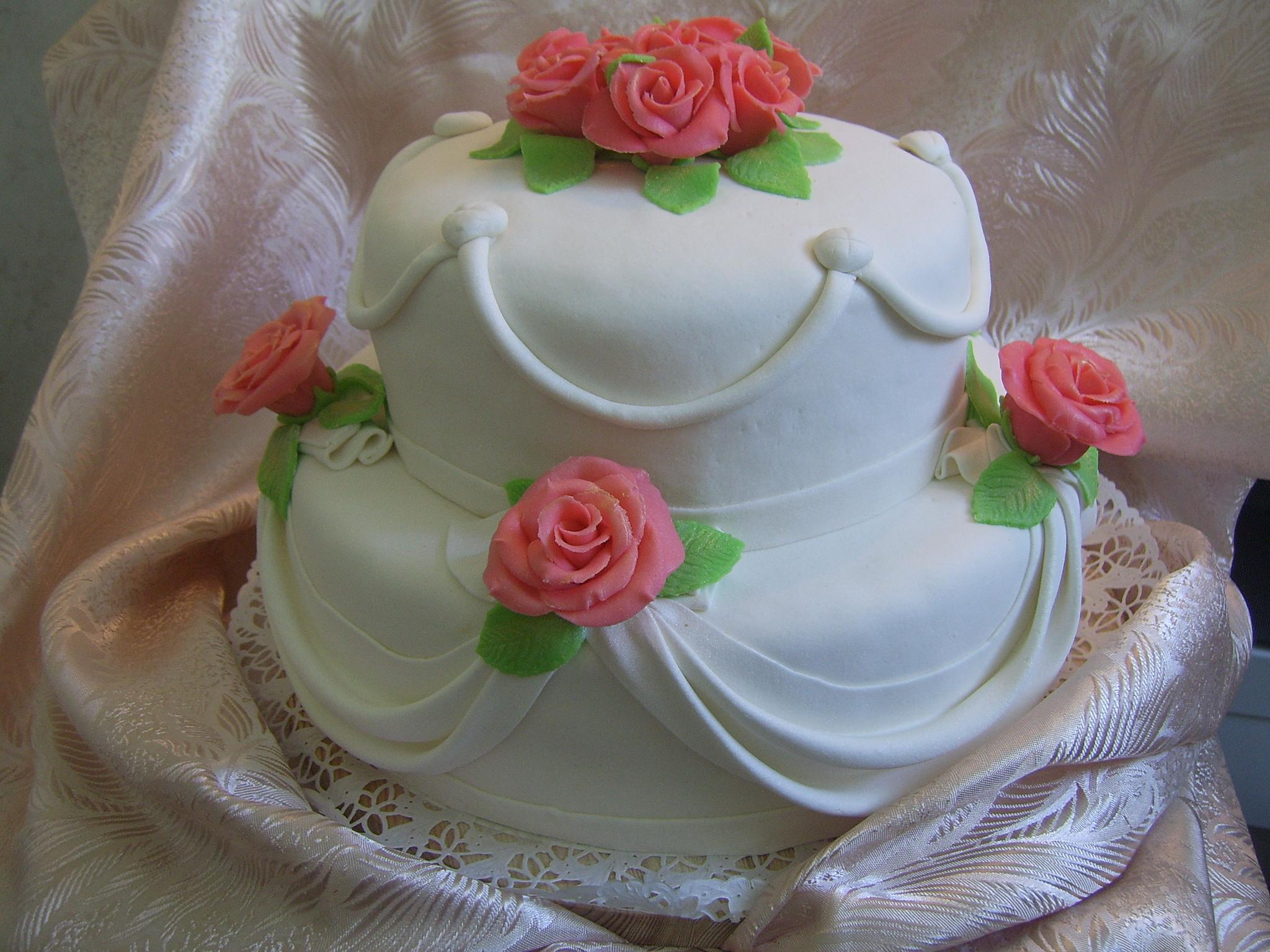 Как в домашних условиях сделать розы на торте из крема