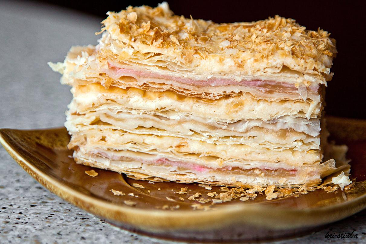 слойоний торт з яблуками рецепт
