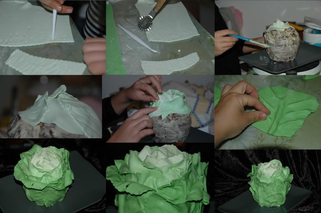 Как сделать капусту с мастики