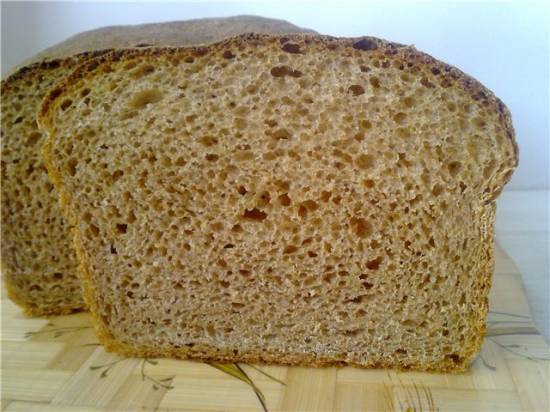 Хлеб из обдирной муки в домашних условиях