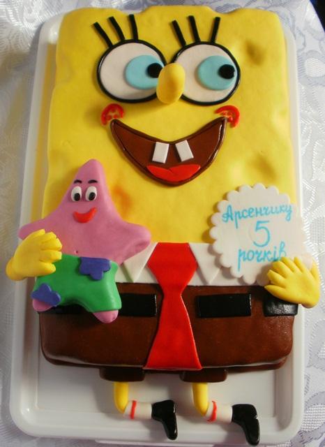 Торт с губкой бобом рецепт и фото