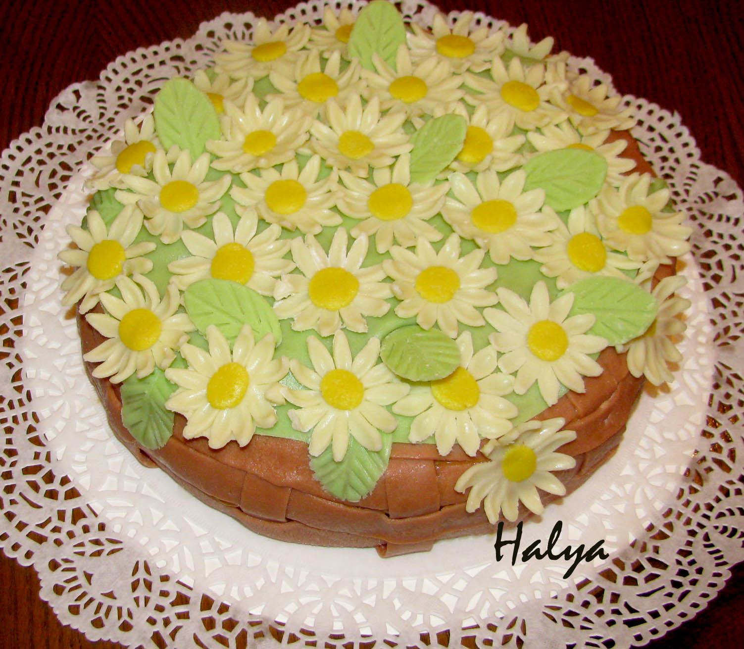 Торт ромашка и рецепт из мастики