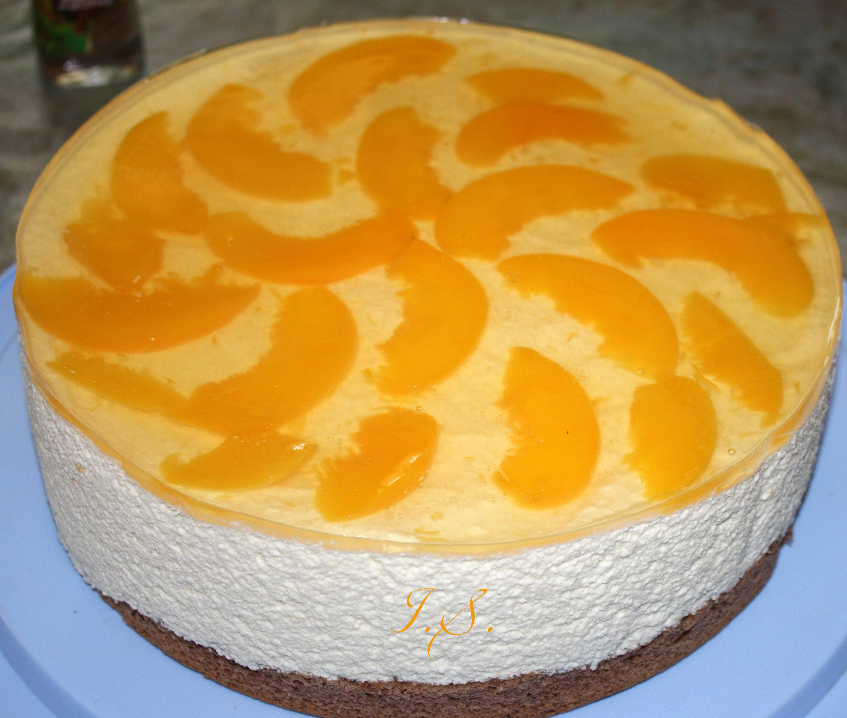 Торт бисквитный с персиками рецепт пошагово в домашних условиях