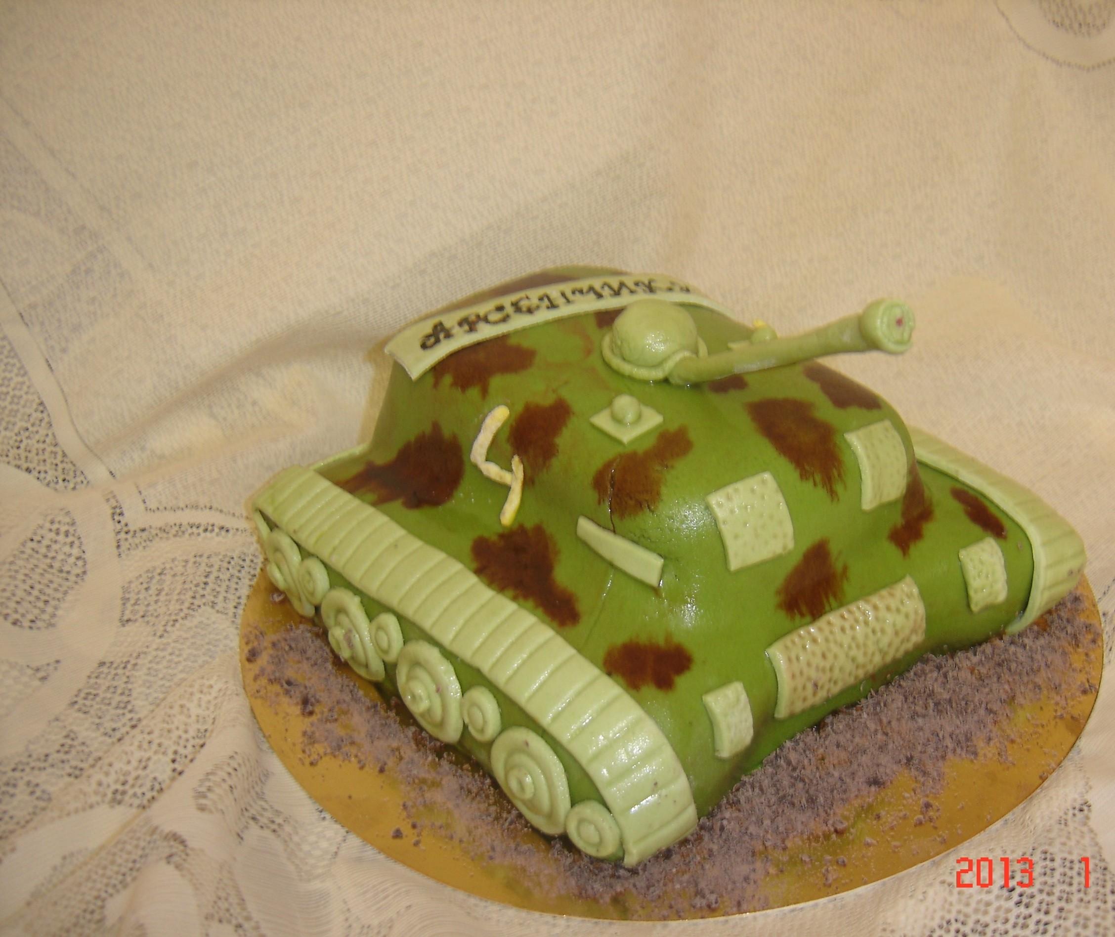 Торты из мастики своими руками танк 724