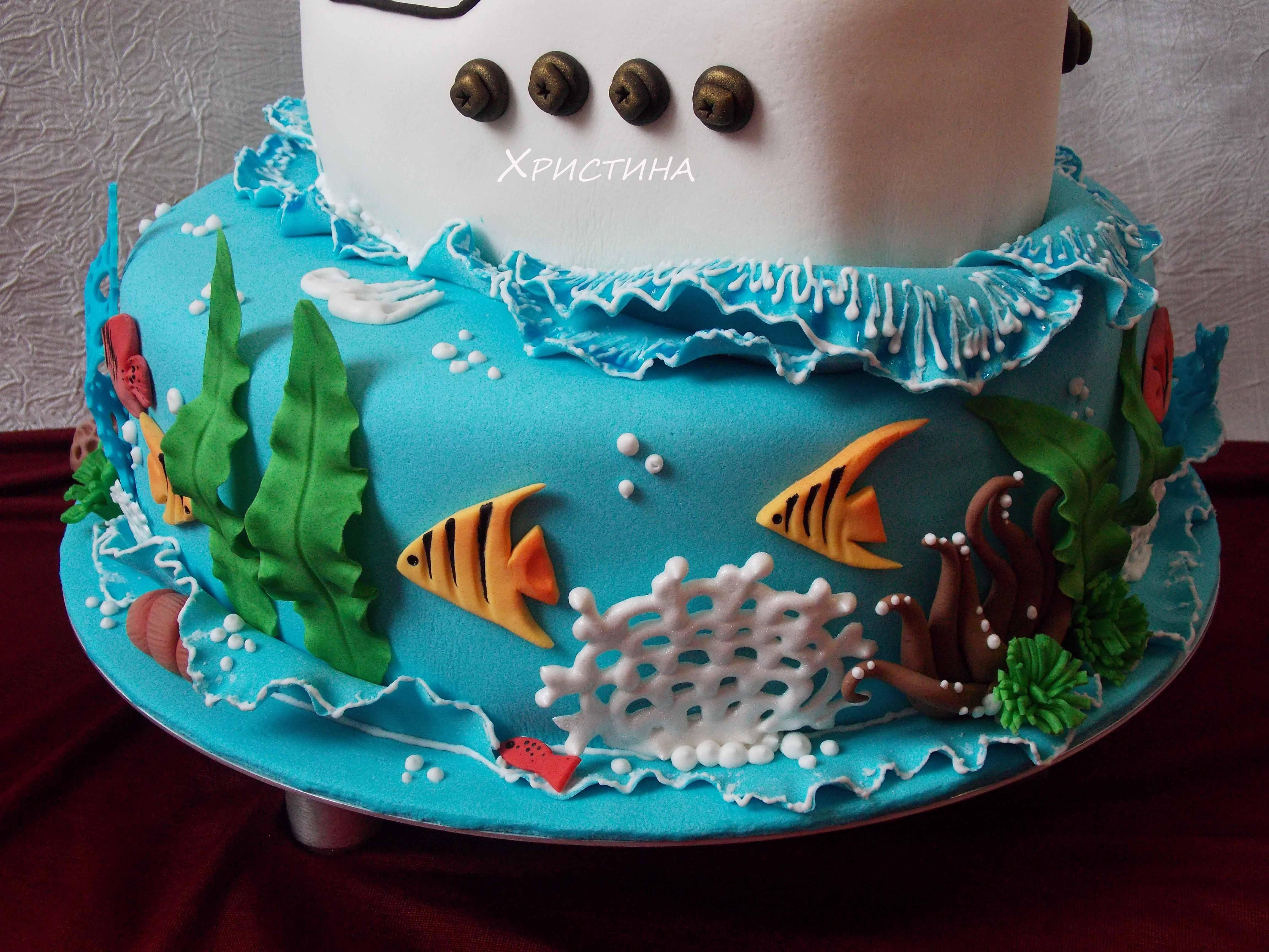 Торт коралловый риф рецепт