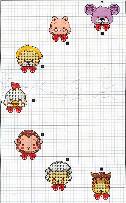 Схемы детских вышивок крестиком 46