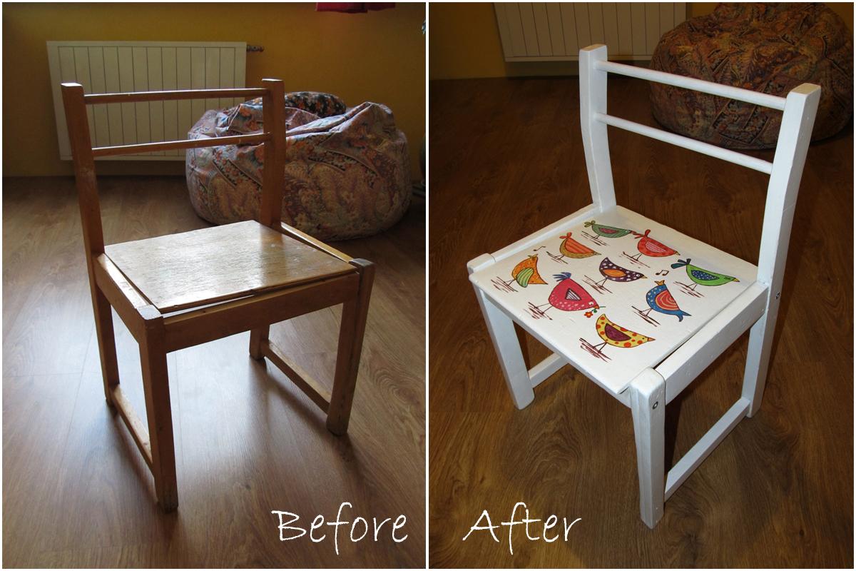 Как покрасить старый деревянный стул своими руками 30