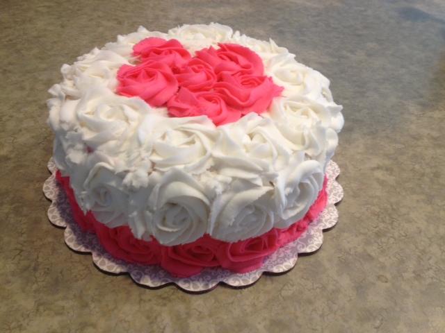 Как сделать розы из крема на торт смотреть фото
