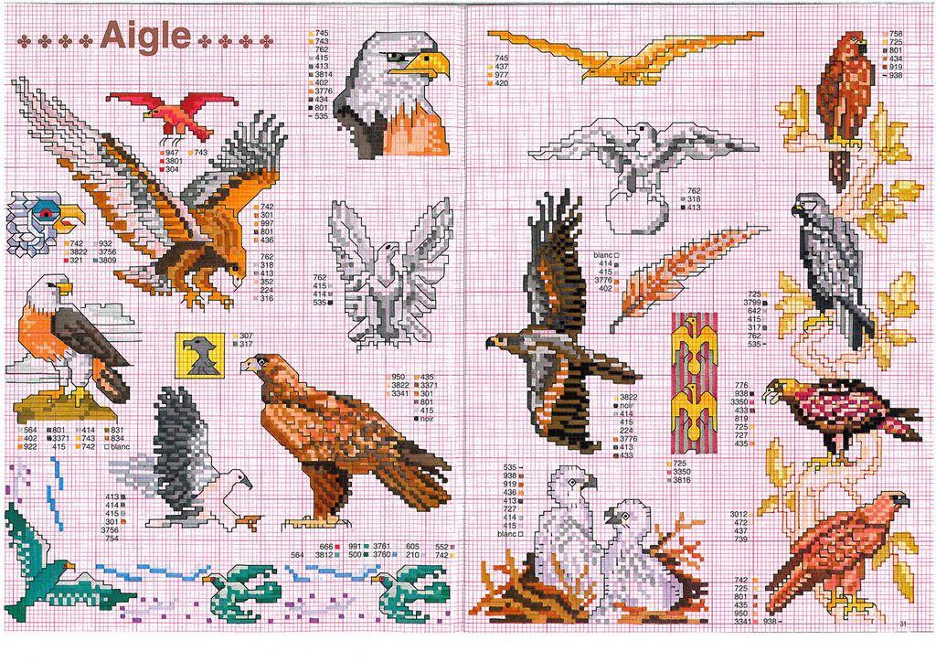 Вышивка крестиком орел