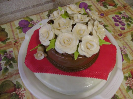 Торт блинный с бананами и шоколадом фото 8