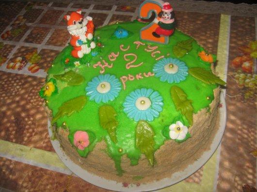 Торт с лисами 9 фотография