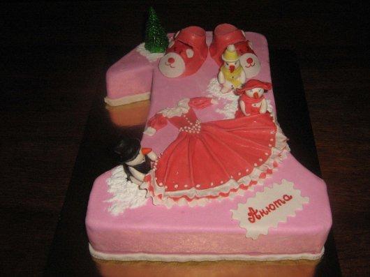 Торти на день народження фото