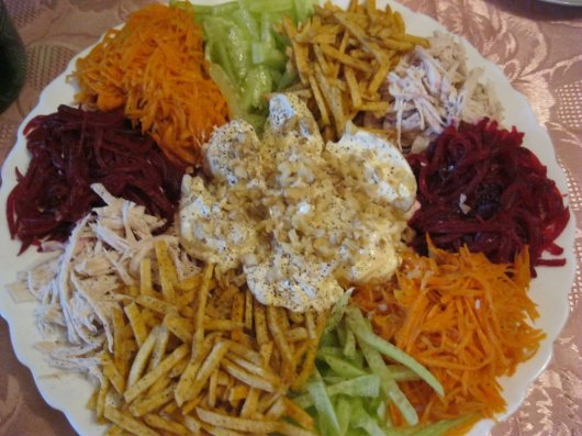 Салат мешанина рецепт с