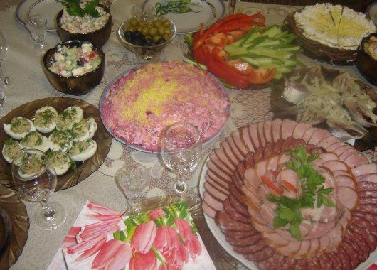 Рецепти святкового столу з фото
