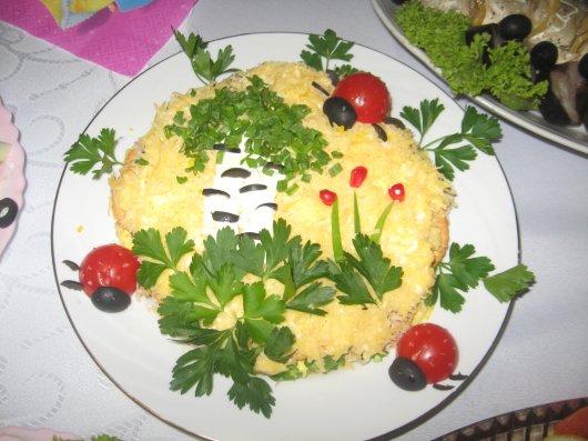Салат крекером фото