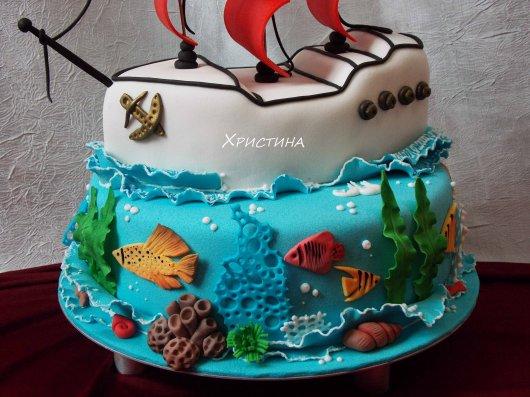 фото торта корабля