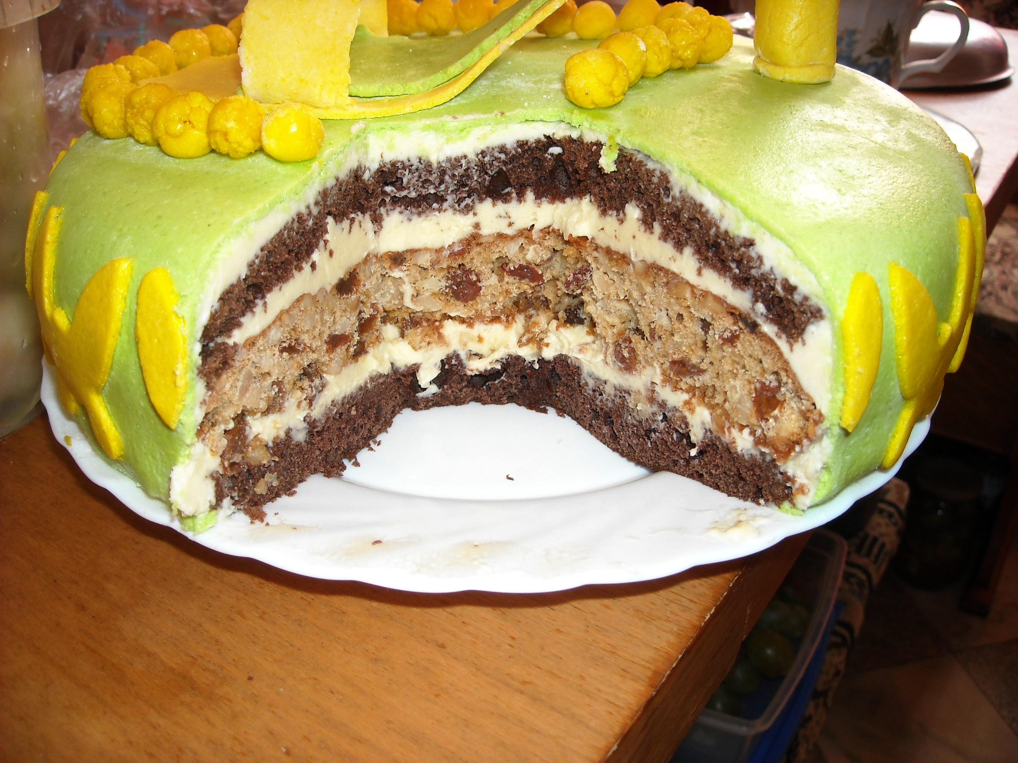 Торт с манным кремом фото пошаговый
