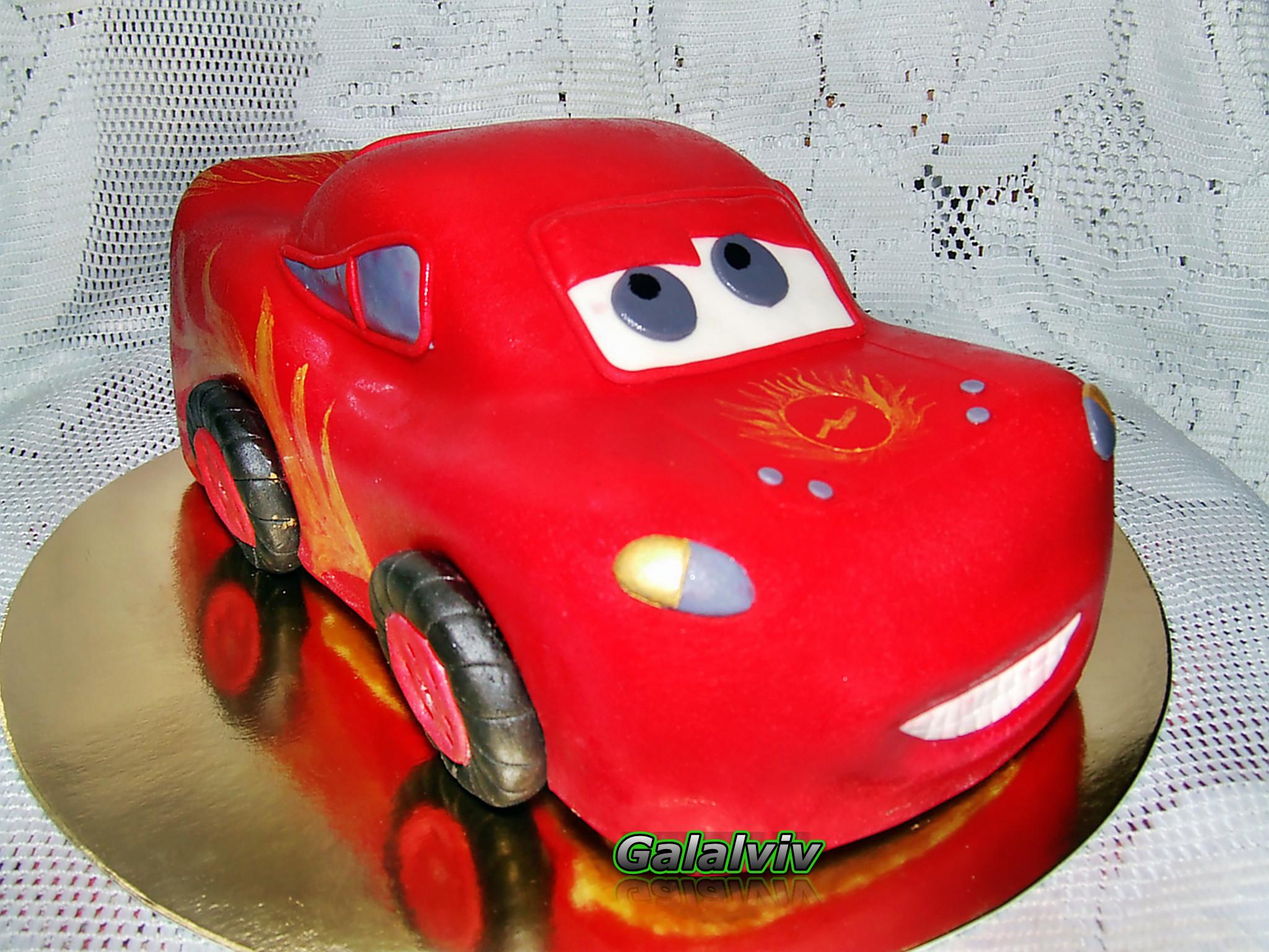 Торт в виде маквина фото пошагово