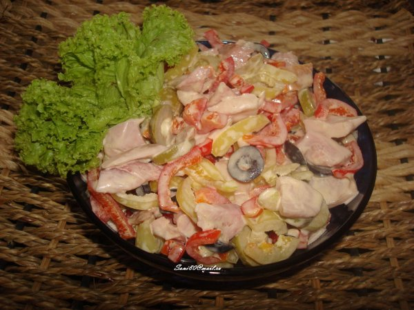 Салат с белокочанной капустой фото