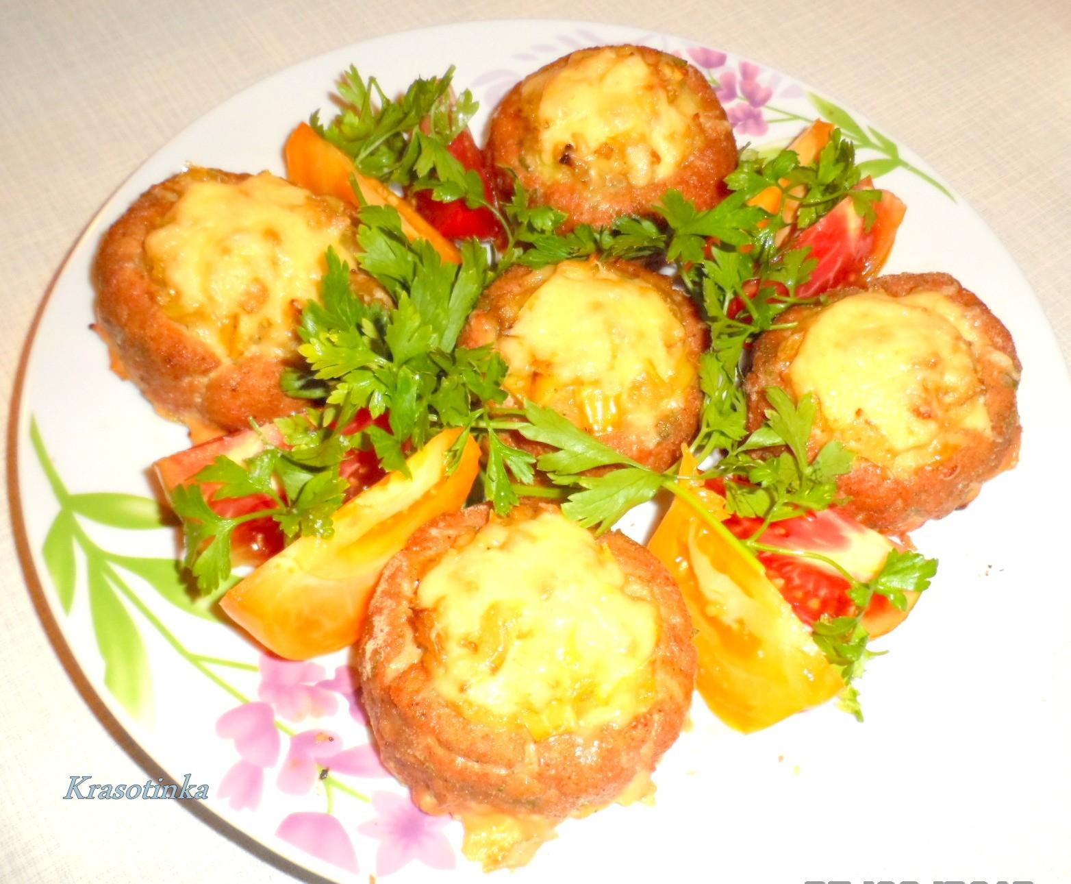 Мясные гнезда с сыром пошаговый рецепт